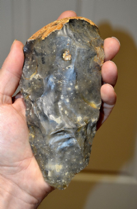 A large and excellent Paleolithic Neanderthal (MAT) Mousterian / Acheulian Hand axe from France SOLD